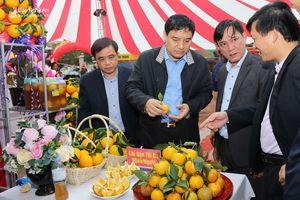 Bí thư Tỉnh ủy Nguyễn Đắc Vinh thăm hội chợ cam Vinh