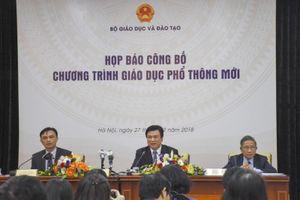 Bộ GD&ĐT công bố chương trình giáo dục phổ thông mới
