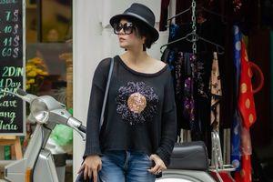 Thu Phương mặc cá tính trên phố Hà Nội