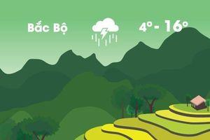 Thời tiết ngày 29/12: Cả nước đều xuất hiện mưa dông, Bắc Bộ rét hại