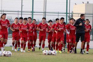 Những hình ảnh buổi tập đầu tiên của tuyển Việt Nam tại Qatar