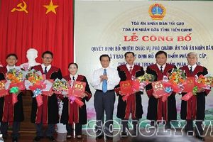 TAND tỉnh Tiền Giang: Công bố và trao quyết định bổ nhiệm Thẩm phán