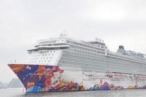 CLIP: Chiêm ngưỡng tàu du lịch siêu sang ghé thăm vịnh Hạ Long