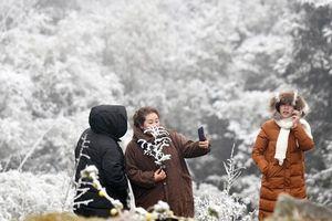 Sapa, Mẫu Sơn đông nghẹt vì du khách đổ xô lên xem băng tuyết