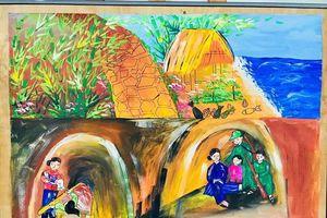 Học sinh tái hiện lịch sử địa phương qua tranh vẽ