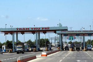 Tạm dừng thu phí cao tốc TP.HCM - Trung Lương từ 1/1/2019