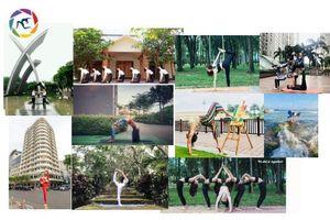 Màu xanh thiên nhiên tôn vinh nét đẹp Yoga