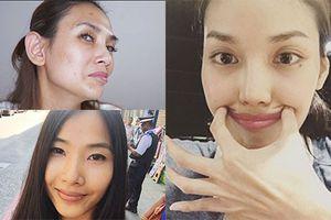 Ngỡ ngàng nhan sắc siêu mẫu Việt khi trút son phấn để mặt mộc