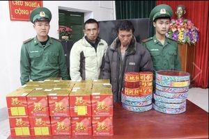 Bộ đội Biên phòng bắt 2 đối tượng vận chuyển hơn 60kg pháo lậu