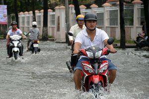 TP.Cà Mau ngập vì ảnh hưởng bão số 1