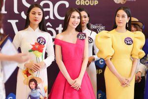Kiko Chan, Tường Linh nổi bật ở buổi casting Hoa hậu Bản sắc Việt