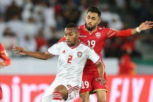 Chủ nhà UAE chật vật giành 1 điểm ở trận ra quân Asian Cup 2019