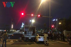 Đà Nẵng: Xe tải húc văng nhiều xe đang dừng chờ đèn đỏ