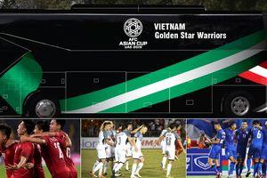 Khẩu hiệu đặc biệt trên xe bus chở đội tuyển Việt Nam tại Asian Cup 2019