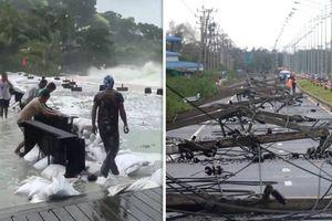 Cơn bão mạnh nhất trong 30 năm đổ bộ Thái Lan: 3 người chết, 34.000 người phải sơ tán
