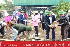 Lộc Hà ra quân tham gia xây dựng nông thôn mới năm 2019