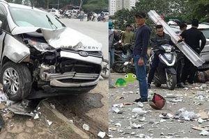 Hiện trường vụ tai nạn kinh hoàng ở Hà Nội khiến 2 vợ chồng tử vong