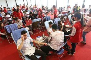 Tiếp nhận hơn 1.000 đơn vị máu từ Lễ hội Xuân hồng tại Thanh Hóa