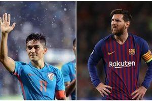 Ghi 2 bàn trước Thái Lan, tiền đạo Ấn Độ vượt qua thành tích của Messi
