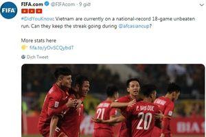 FIFA chính thức công nhận kỷ lục bất bại ấn tượng của ĐT Việt Nam
