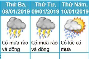 Tin không khí lạnh tăng cường và dự báo thời tiết 3 ngày tới