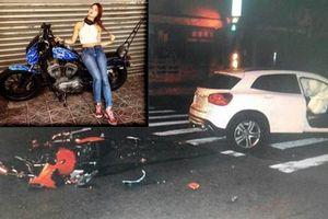 Phóng mô tô vượt đèn đỏ, người mẫu 19 tuổi xinh xắn bị ô tô tông chết