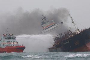 Tàu chở dầu quốc tịch Việt Nam bốc cháy ngoài khơi Hồng Kông