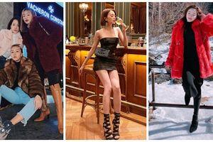 Giữa rừng mỹ nhân lăng-xê mốt áo lông ấm áp, Thiều Bảo Trang hóa quý cô 'party' sexy với đầm ống 60cm