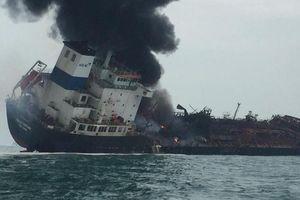 Tàu chở dầu gắn cờ Việt Nam cháy ngoài biển Hồng Kông: Bộ Ngoại giao cập nhật thông tin