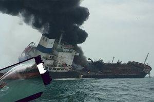 Cháy tàu chở dầu có 25 người Việt trên vùng biển Hồng Kông: Chưa tìm thấy 2 thuyền viên mất tích