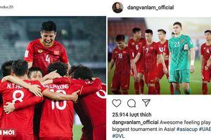 ĐT Việt Nam 2-3 Iraq: Các cầu thủ đăng gì trên mạng xã hội?