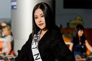 Lê Âu Ngân Anh chính thức lên đường đi thi Miss Intercontinental 2018 dù không được cấp phép