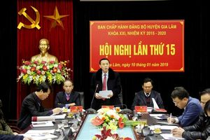 Hội nghị lần thứ 15 BCH Đảng bộ huyện Gia Lâm