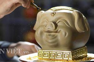 Lợn đất dát vàng giá gần trăm triệu đắt khách ở Bát Tràng