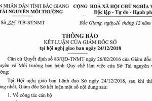 Bắc Giang: 'Nóng' chuyện bổ nhiệm PGĐ Trung tâm quan trắc Tài nguyên và Môi trường