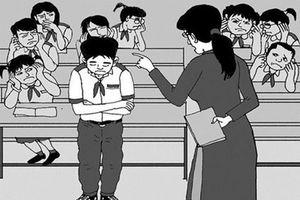 Phạt học sinh bằng hình thức không giống ai thì chẳng 'kinh dị' thì gọi là gì?