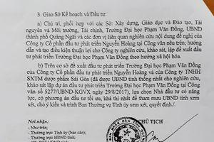 Kế hoạch 'xã hội hóa' ĐH Phạm Văn Đồng của tỉnh Quảng Ngãi