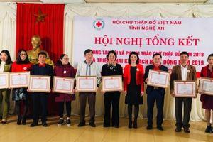 Hội Chữ thập đỏ tỉnh Nghệ An: Hoạt động nhân đạo đạt gần 46 tỷ đồng trong năm 2018