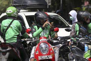 Indonesia: Nâng giá cước xe công nghệ vì tài xế