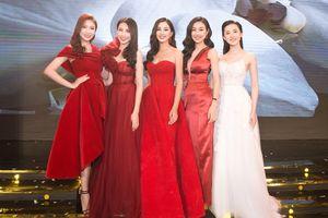 Hoa hậu Tiểu Vy rực rỡ hội ngộ dàn sao hải ngoại đình đám