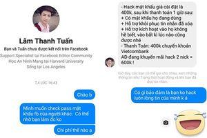 Thư Kỳ bị lừa 4 triệu đồng vì nhờ tin tặc dỏm hack Facebook người khác