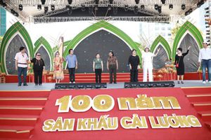 Dàn sao tập luyện trước đêm diễn tôn vinh 100 năm cải lương ở phố đi bộ Nguyễn Huệ