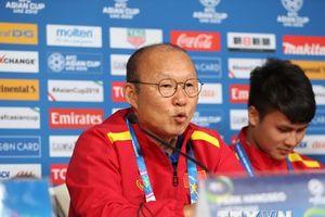 Toàn cảnh buổi họp báo trước trận Việt Nam-Iran tại Asian Cup 2019