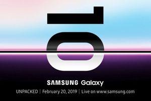 Samsung chốt ngày 20/2 sẽ ra mắt Galaxy S10