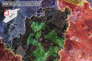Syria: Bản đồ chiến sự Idlib sau khi phiến quân thánh chiến chiếm Al-Ghaab