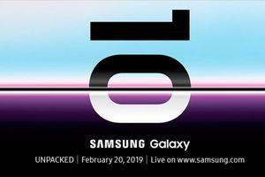 Samsung trình làng siêu phẩm Galaxy S10 vào ngày 20/2/2019