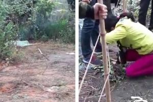 Công an lên tiếng vụ con chết bí ẩn ngoài vườn, mẹ khóc thương thảm thiết