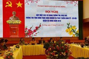 UBND quận Hà Đông gặp mặt các cơ quan thông tin, báo chí