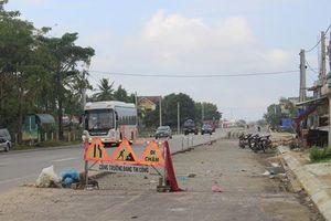 Quảng Ngãi: Quốc lộ 1A vẫn ngổn ngang sau 5 lần gia hạn tiến độ