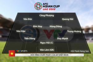 Công bố đội hình chính thức trận Việt Nam vs Iran: Đức Huy đá chính, Xuân Trường dự bị